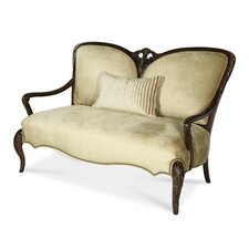 Imperial Court Wood Trim Settee Loveseat