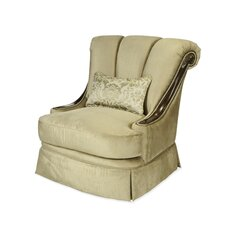 Imperial Court Wood Trim Swivel Chair