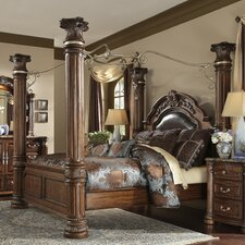<strong>Michael Amini</strong> Monte Carlo II Four Poster Bedroom Collection