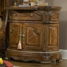 <strong>Michael Amini</strong> Cortina 1 Drawer Nightstand