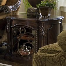 Essex Manor Barrel End Table in Deep English Tea