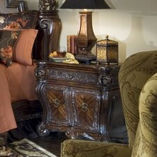 <strong>Michael Amini</strong> Essex Manor Bedside Chest in Deep English Tea
