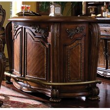 <strong>Michael Amini</strong> Oppulente Marble Top Bar in Sienna Spice with Option Back Bar