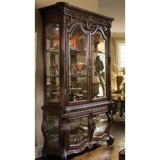 Essex Manor Curio Cabinet in Deep English Tea