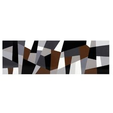 Grey Cubism Graphic Art on Canvas