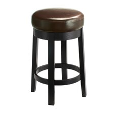 Cedric Bonded Leather Swivel Stool