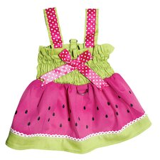 Juicy Watermelon Dog Sundress with Large D-ring for Easy Leash Attachment