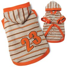 "Cute and Sporty ""23"" Dog Hooded Jersey"