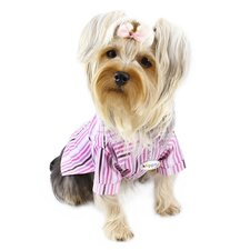 Adorable Smart Stripes Classic Button-Up Dog Shirt
