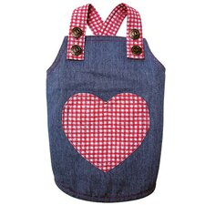 Adorable Country Denim Dog Dress