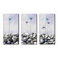 <strong>Artistic Bliss</strong> Tulips and Pebbles Wall Art