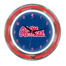 "<strong>Wave 7</strong> NCAA 14"" Team Neon Wall Clock"