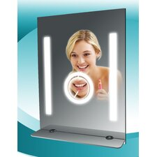 <strong>Steam Spa</strong> Fog Free Bathroom Tall Mirror with Glass Shelf