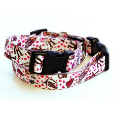 Paul Frank Love Triangle Dog Collar