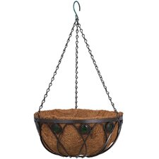 <strong>Arcadia Garden Products</strong> Emerald Series Round Hanging Basket