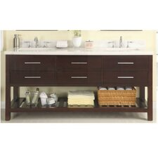 "Priva 72"" Open Double Bathroom Vanity Base"