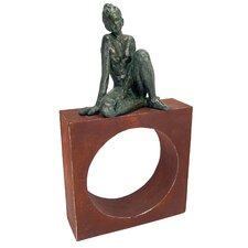 Geometric Models Girl Circle Statue