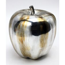 Silver Fruit Apple Sculpture