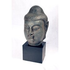Male Buddha Head Resin Statue