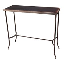 Tapered Leg Metal Console Table