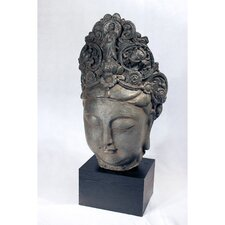Female Buddah Head Resin Statue