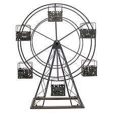 <strong>Vita V Home</strong> Ferris Wheel Metal Candle holder