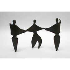 Abstract Trio Cast Iron Figurine