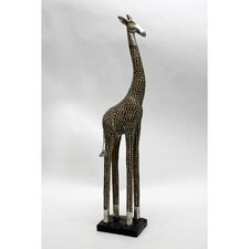 Carved Giraffe Resin Statue