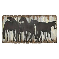 Pelipa Wooden Horse Plaque Wall Art
