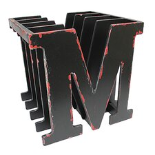 M for Magazine Rack - Black Finish