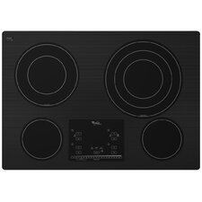 "30"" Triple Radiant Element Ceramic Glass Electric Cooktop"