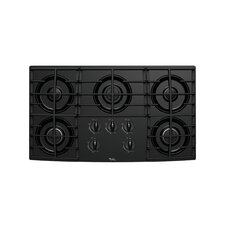 "36"" Five Burners and Tempered Glass Surface Gas Cooktop"