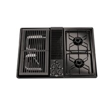 "30"" Downdraft Ventilation System Gas Cooktop"