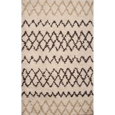 Berber White/Chocolate Moroccan Rug