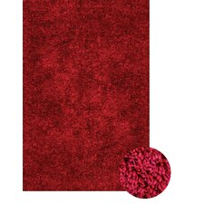 Lifestyle Shag Cranberry Area Rug