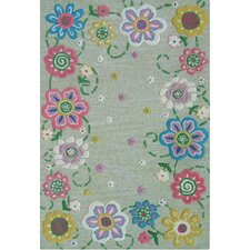 Abacasa Kids Secret Garden Lt. Green/Pink/Blue Area Rug
