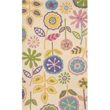 Abacasa Kids My Garden  Ivory/Yellow/Purple Area Rug