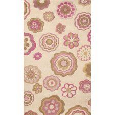 Abacasa Kids Fun Flowers vory/Pink/Tan Area Rug