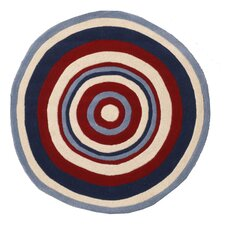 Abacasa Kids Bullseye Red/Blue/White Area Rug