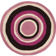 Abacasa Kids Bullseye Pink/Chocolate/White Area Rug
