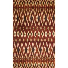 <strong>Abacasa</strong> Abacasa Sonoma Backgammon Rust Area Rug
