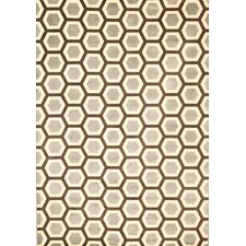<strong>Abacasa</strong> Sonoma Light Blue Honeycomb Rug
