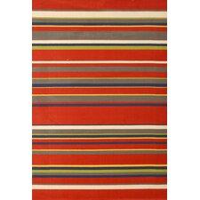 Jax Red Stripes Rug