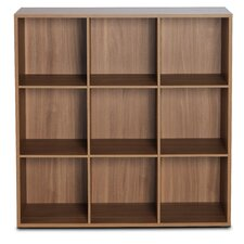 3 Row and 3 Column Thick Framed Open Cabinet