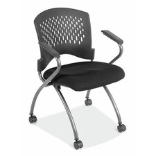 <strong>OfficeSource</strong> Nesting Chair with Casters