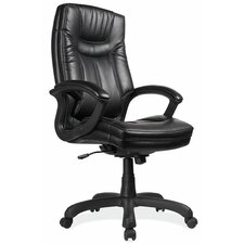 <strong>OfficeSource</strong> Mid-Back Leather Executive Chair