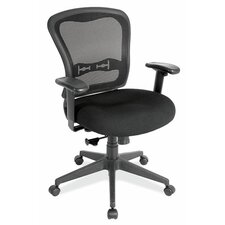 <strong>OfficeSource</strong> Mesh Side Chair with Adjustable Arms