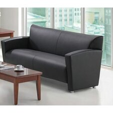 <strong>OfficeSource</strong> Tribeca Leather Sofa