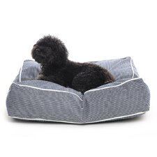 Engineer Stripe Square Dog Pillow