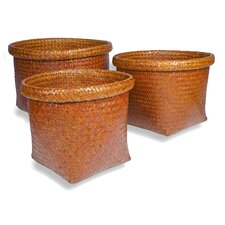 <strong>Foreign Affairs Home Decor</strong> Tembaga Square Basket (Set of 3)